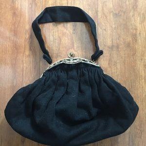 Vintage Black Ordinate Ladies Handbag